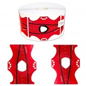 50 Modellierschablonen für Stiletto und Classic Modellage geeignet für Gel und Acryl UV-Gel/ Rot