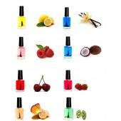 Nagelöl Set 8 x 5 ml Zitrone, Vanille, Erdbeere, Cocos, Himbeere,Kirsche......