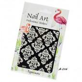 1 Bogen Nailart Sticker A-216 Wasseraufkleber  Nail Art Tattoos