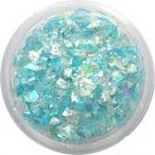 Glitzer Flakes in der Farbe blau irisierend