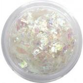 Glitzer Flakes in der Farbe weiß irisierend