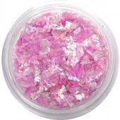 Glitzer Flakes in der Farbe lila-rosa irisierend