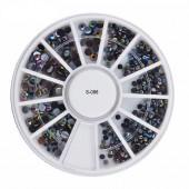 1 Nail-Art Rondell / Display S-086 mit super schöne Nailart Dekoration
