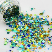 1 Döschen G-B Glitter Mix Pailletten Mixed Mermaid Sequins
